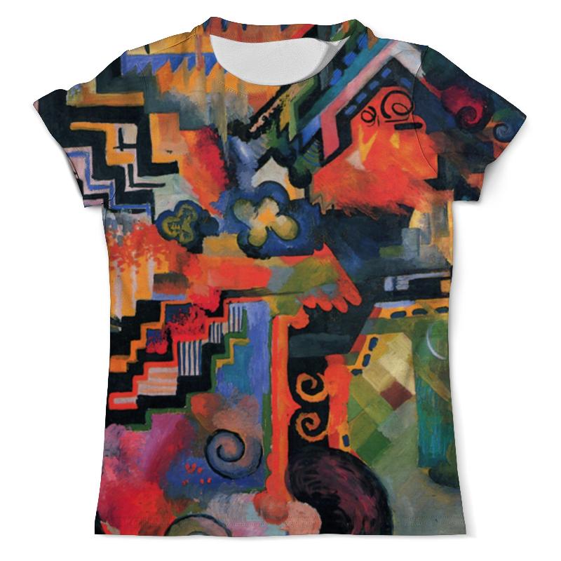 Футболка с полной запечаткой (мужская) Printio Цветовая композиция (август маке) футболка с полной запечаткой женская printio парусник в тегернзее август маке