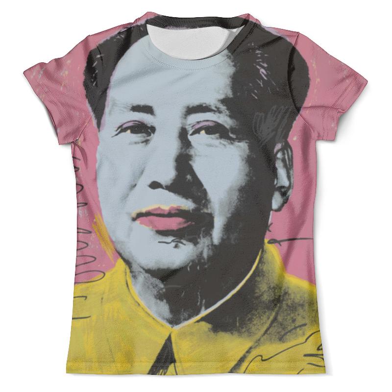 Футболка с полной запечаткой (мужская) Printio Мао цзедун мао цзэдун великий кормчий мао цзэдун не бояться трудностей не бояться смерти афоризмы цитаты высказывания