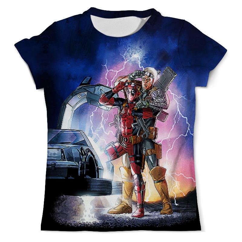 Футболка с полной запечаткой (мужская) Printio Deadpool&cable (back to the future) тетрадь на скрепке printio back to the future