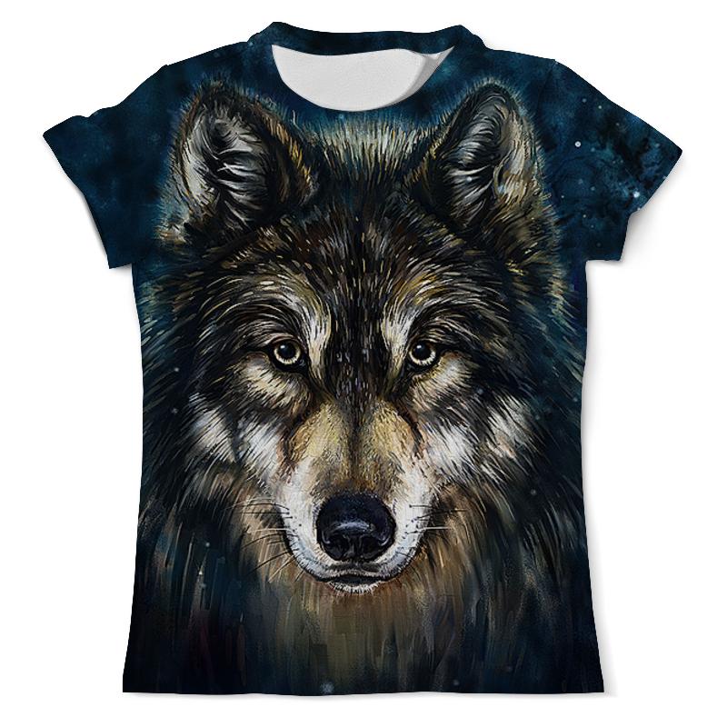 Футболка с полной запечаткой (мужская) Printio Волки фэнтези. седой волк футболка с полной запечаткой мужская printio морской волк