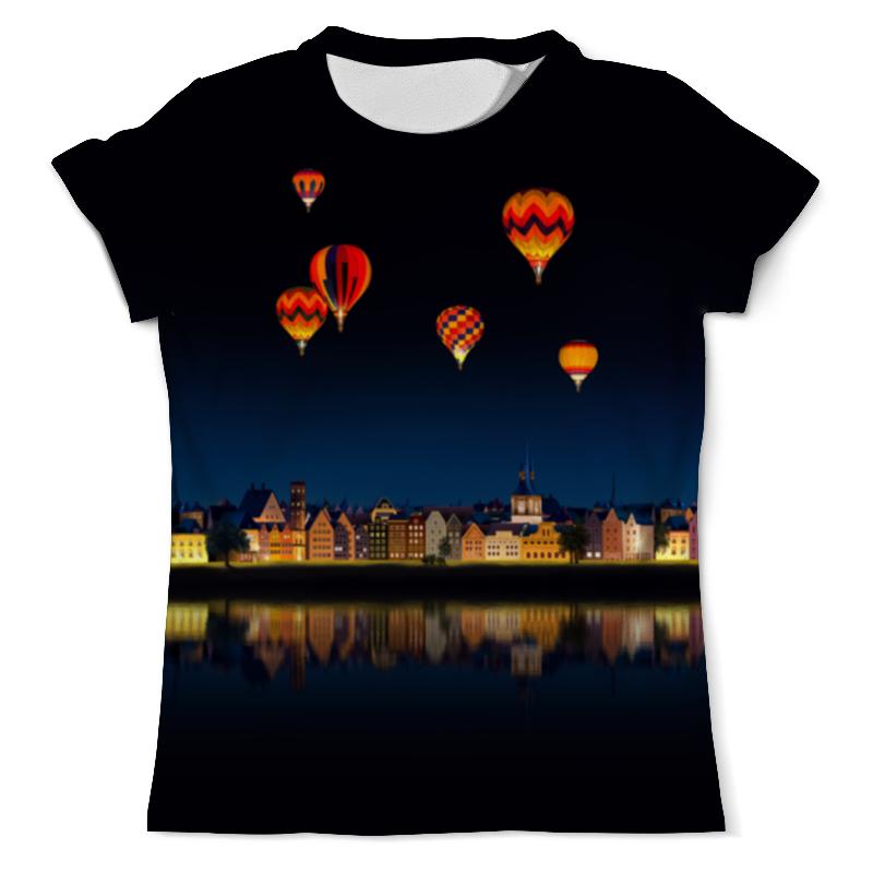 Футболка с полной запечаткой (мужская) Printio Ночной городок футболка с полной запечаткой мужская printio воздушные шары