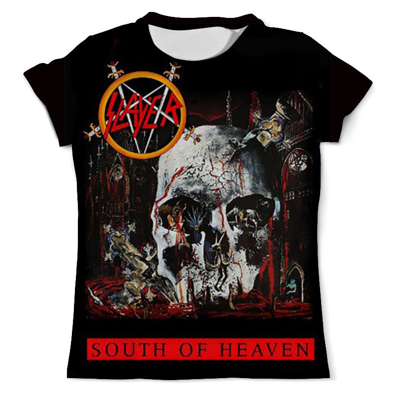 Футболка с полной запечаткой (мужская) Printio Slayer south of heaven 1988 eye of heaven