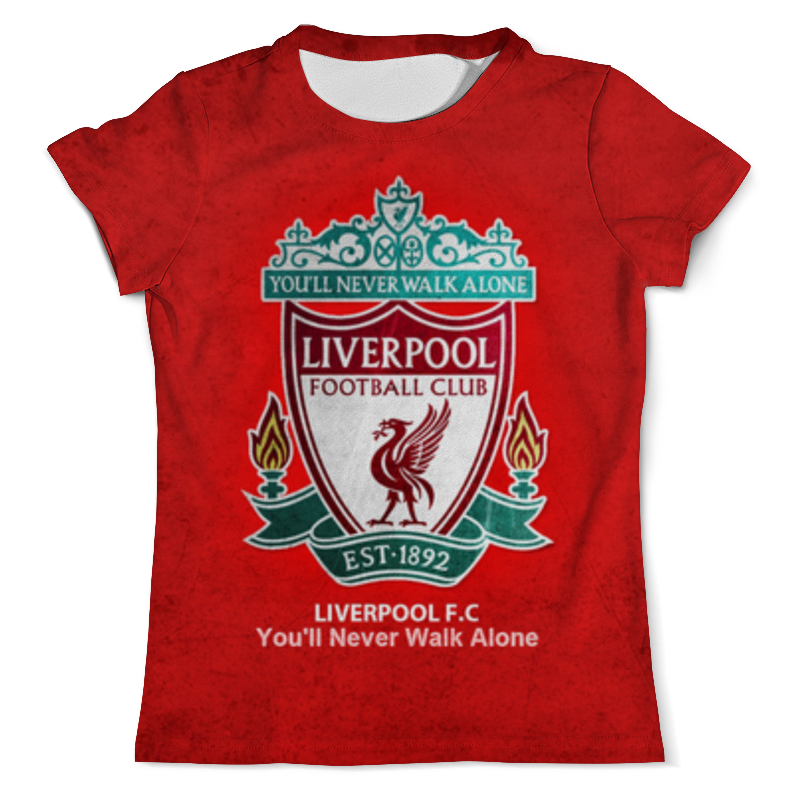 Printio Liverpool (ливерпуль) свитшот женский с полной запечаткой printio liverpool ливерпуль