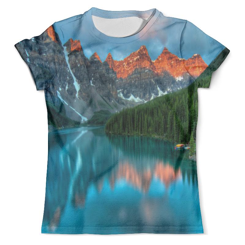 Футболка с полной запечаткой (мужская) Printio Горы у озера футболка с полной запечаткой мужская printio х у й ё б