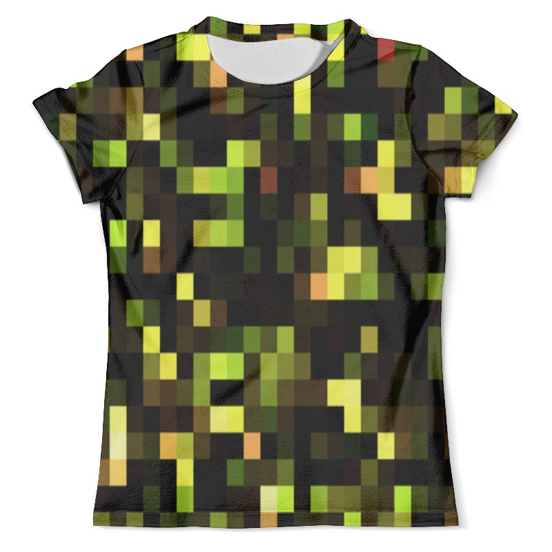 Футболка с полной запечаткой (мужская) Printio Пиксели футболка с полной запечаткой мужская printio сара керриган старкрафт