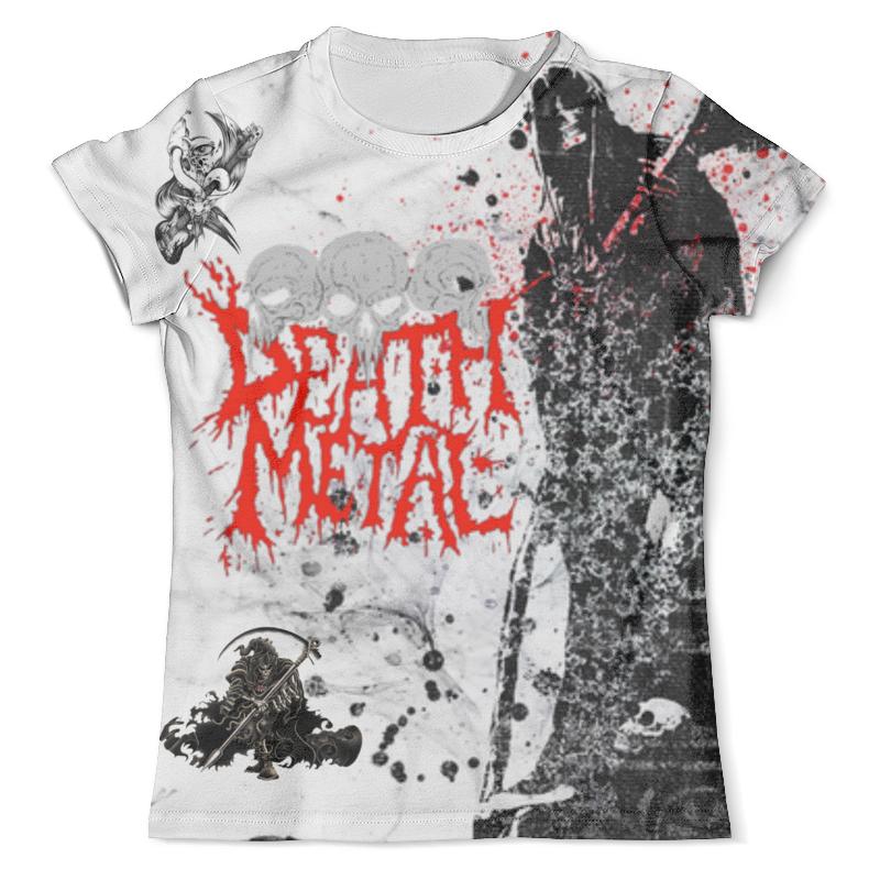 Футболка с полной запечаткой (мужская) Printio Death metal (смерть) цена и фото