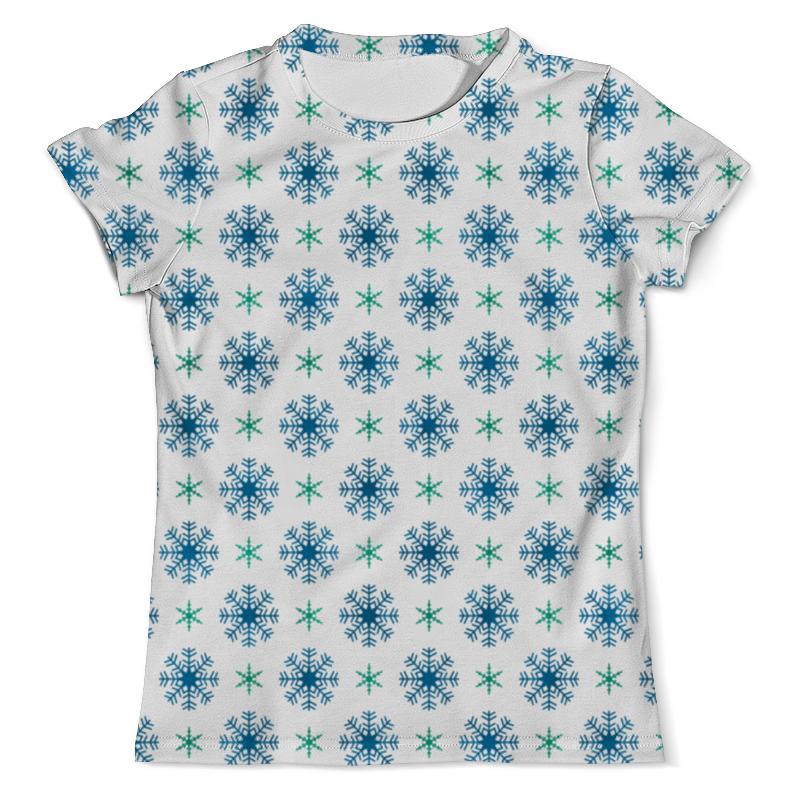 Футболка с полной запечаткой (мужская) Printio Падающие снежинки футболка с полной запечаткой мужская printio падающие снежинки