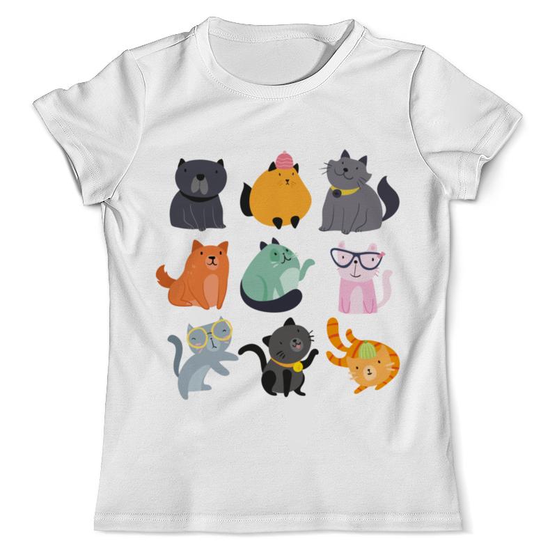 Футболка с полной запечаткой (мужская) Printio Цветные кошки футболка с полной запечаткой мужская printio цветные текстуры