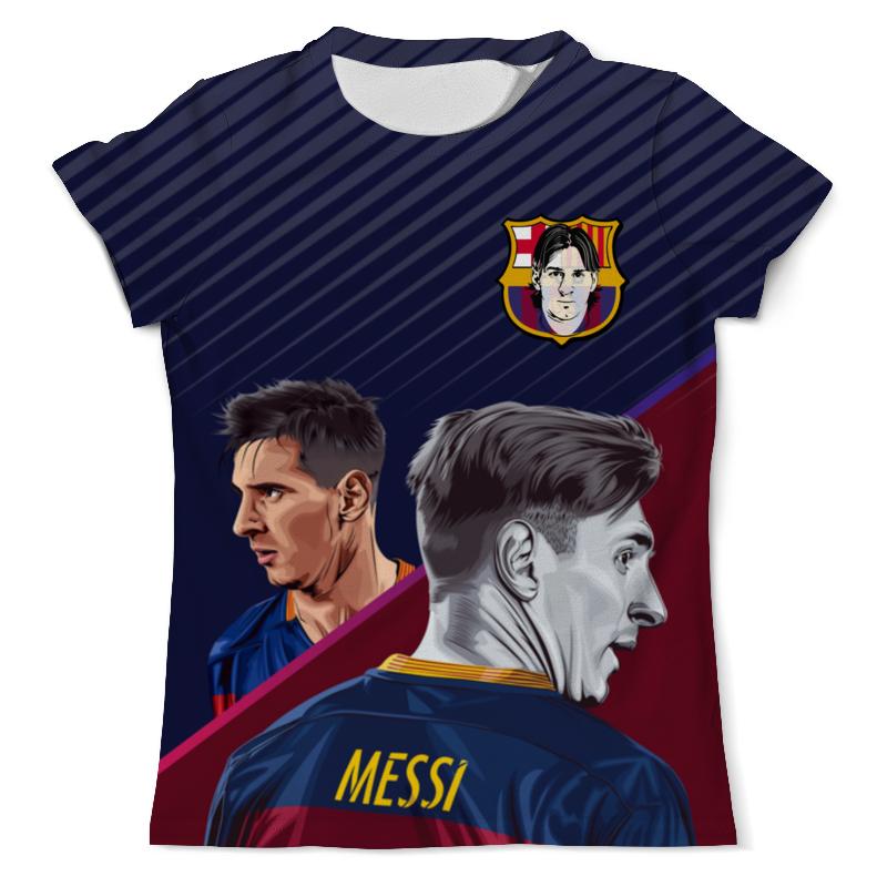 Футболка с полной запечаткой (мужская) Printio Lionel messi - лионель месси design секретный футболист изнанка футбольного мира