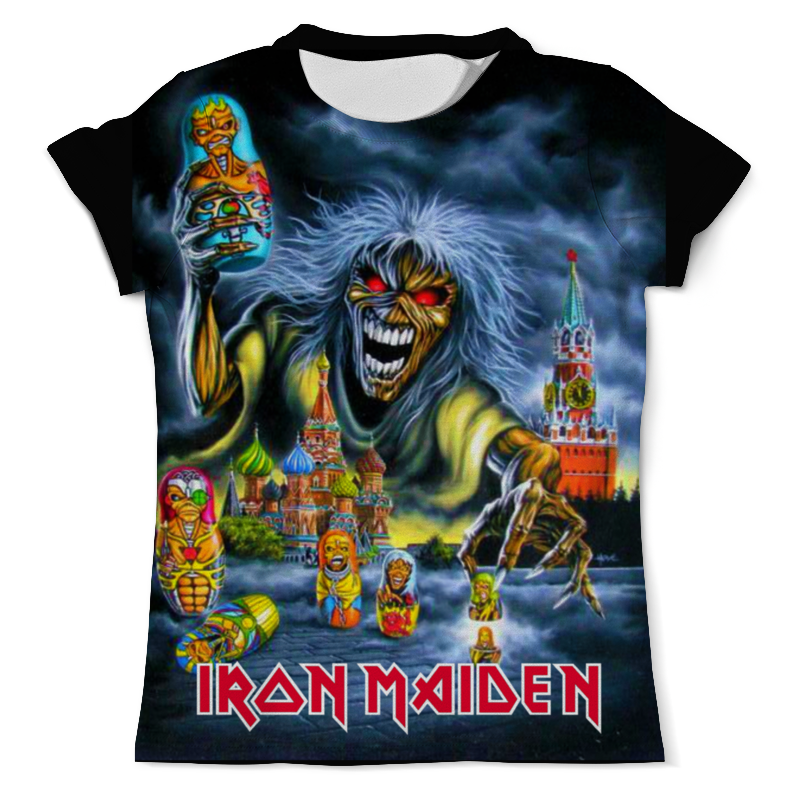 Футболка с полной запечаткой (мужская) Printio Iron maiden band iron maiden iron maiden running free live