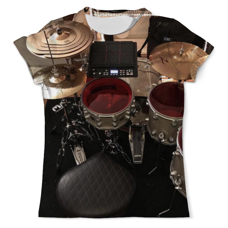 Футболка с полной запечаткой (мужская) Printio Drums цены