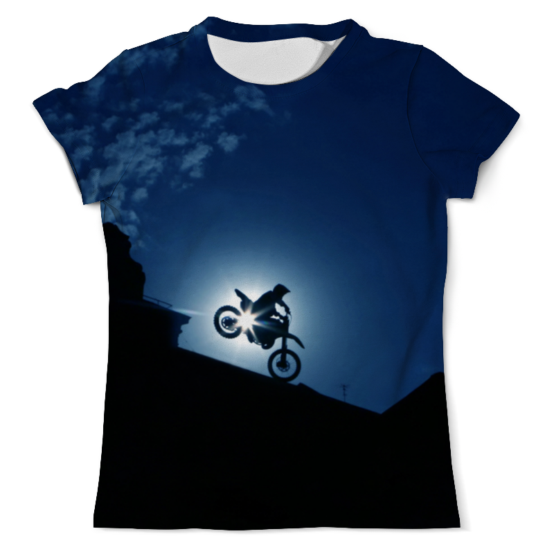 Printio Мотоцикл футболка с полной запечаткой мужская printio мотоцикл