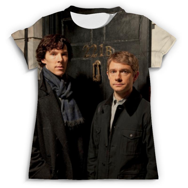 Футболка с полной запечаткой (мужская) Printio Sherlock holmes dayle a c the adventures of sherlock holmes рассказы на английском языке