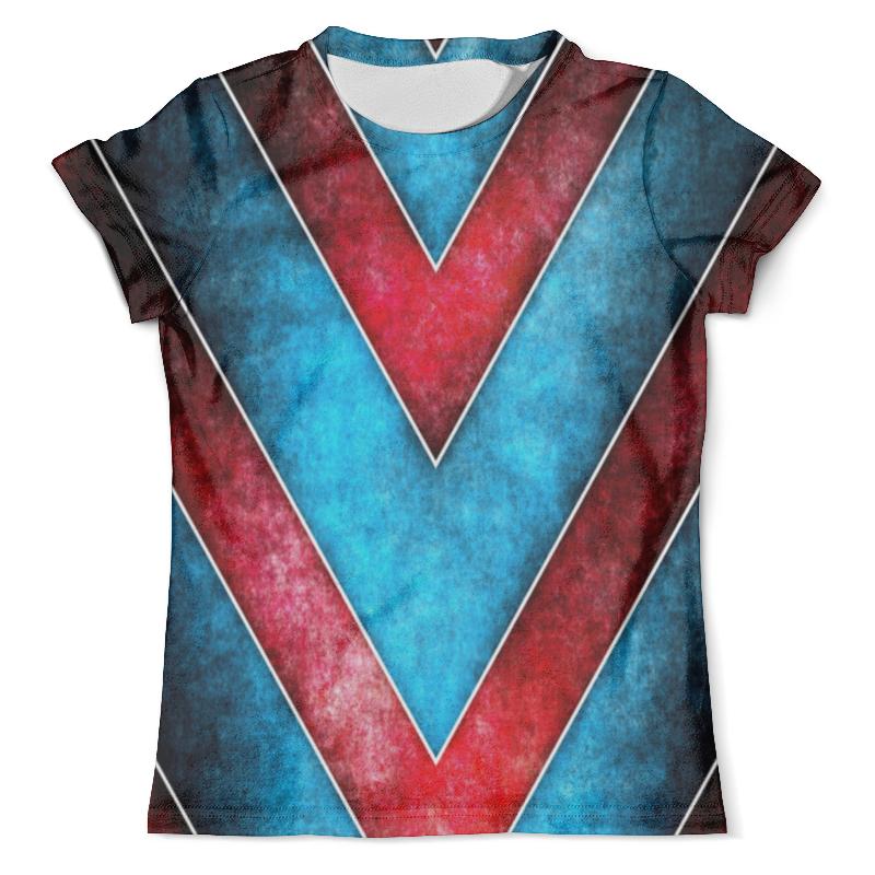 Футболка с полной запечаткой (мужская) Printio Красно-синие полосы футболка с полной запечаткой для мальчиков printio синие полосы