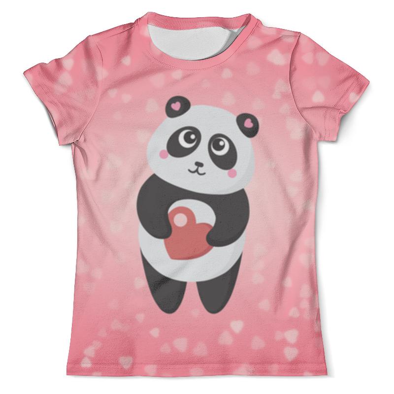 Футболка с полной запечаткой (мужская) Printio Панда с сердечком футболка с полной запечаткой мужская printio панда