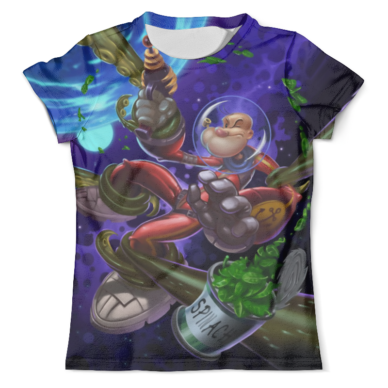 Футболка с полной запечаткой (мужская) Printio Sci-fi popeye футболка для беременных printio popeye
