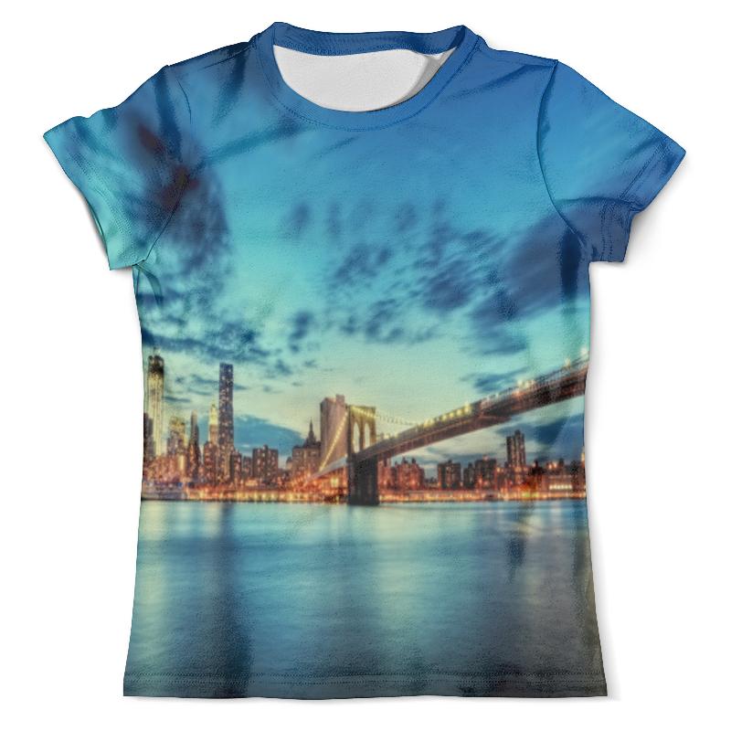 Футболка с полной запечаткой (мужская) Printio Бруклинский мост борцовка с полной запечаткой printio бруклинский мост