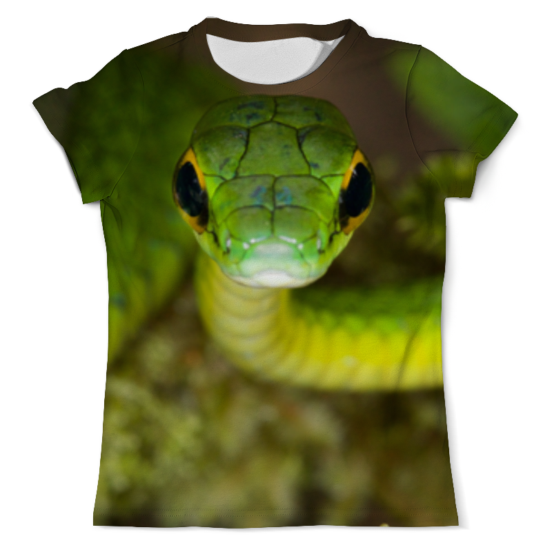 Printio Ядовитая змея футболка с полной запечаткой мужская printio змея