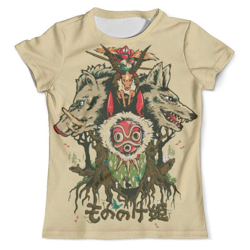 Футболка с полной запечаткой (мужская) Printio Princess mononoke / принцесса мононоке футболка с полной запечаткой для девочек printio принцесса мононоке princess mononoke