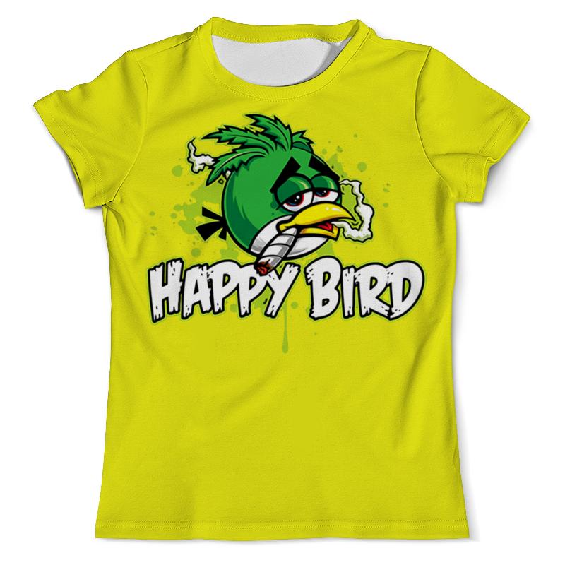 Футболка с полной запечаткой (мужская) Printio Happy bird футболка с полной запечаткой мужская printio bird person птичья личность