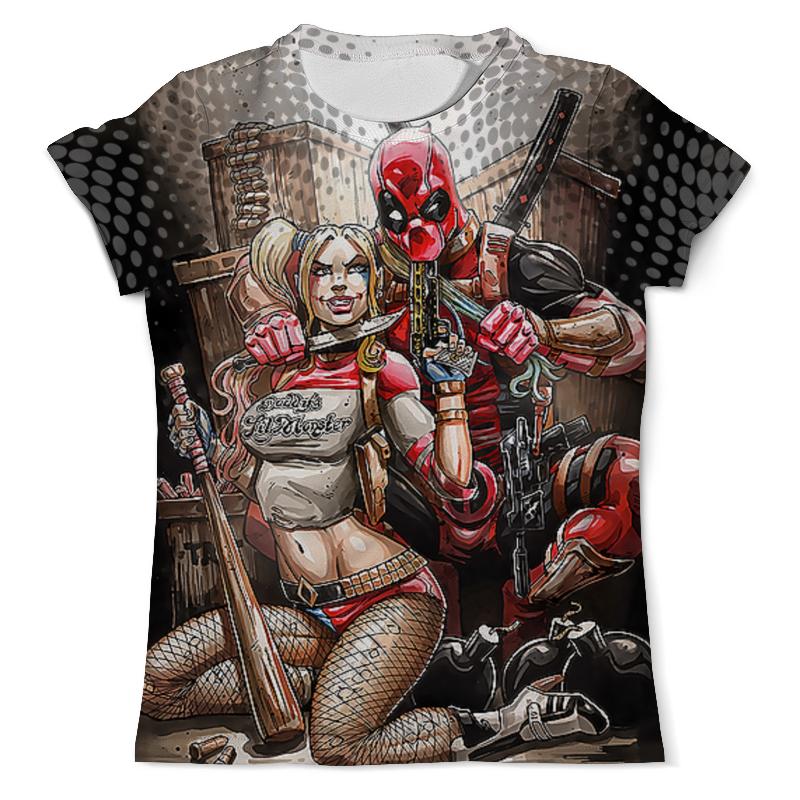 Футболка с полной запечаткой (мужская) Printio Deadpool vs harley quinn design