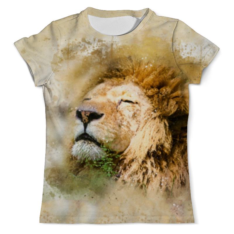 Футболка с полной запечаткой (мужская) Printio Лев - царь зверей футболка классическая printio лев царь зверей