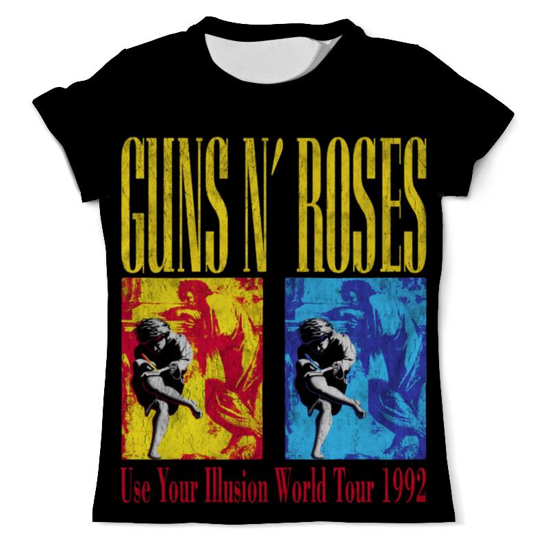 Футболка с полной запечаткой (мужская) Printio Guns n' roses футболка мужская han chao n w bal nce nb