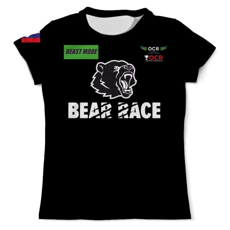 Футболка с полной запечаткой (мужская) Printio Bear race beast mode russia футболка wearcraft premium printio bear race russia 2018