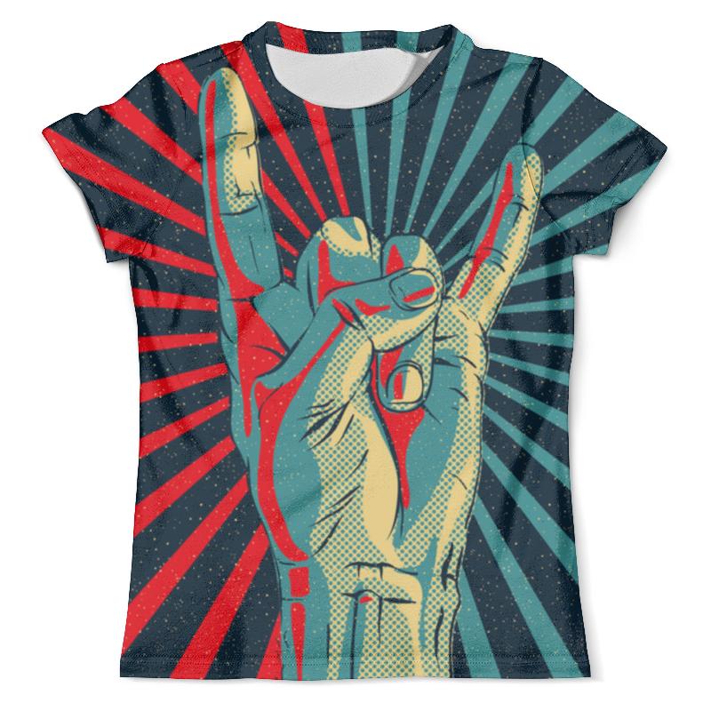 Футболка с полной запечаткой (мужская) Printio Rock and roll детская футболка классическая унисекс printio rock and roll
