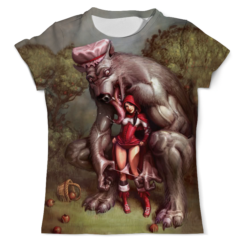 Футболка с полной запечаткой (мужская) Printio Lil red riding hood футболка с полной запечаткой мужская printio красный колпак red hood