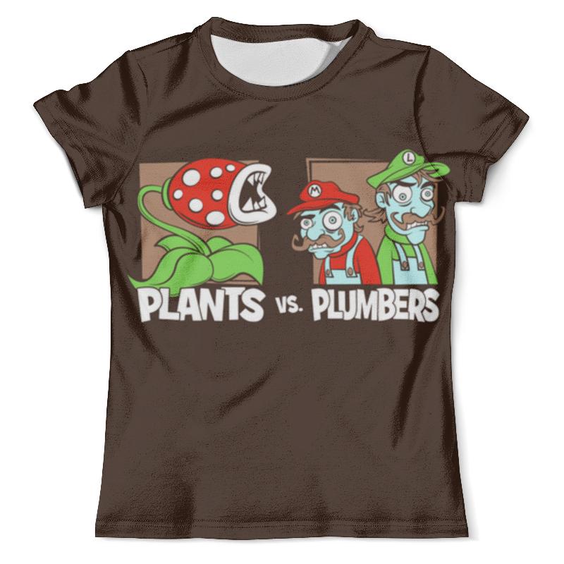 Футболка с полной запечаткой (мужская) Printio Plants vs plumbers футболка с полной запечаткой мужская printio plants vs zombies