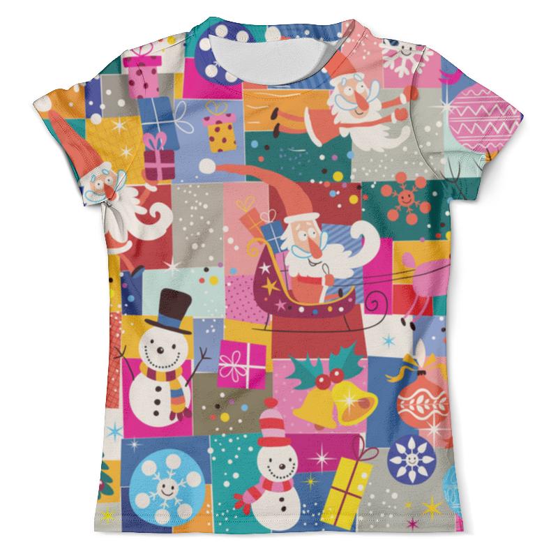 Футболка с полной запечаткой (мужская) Printio Санта и подарки футболка с полной запечаткой мужская printio и по