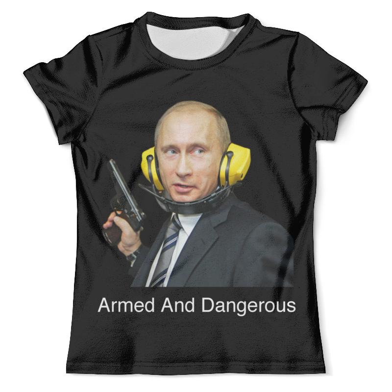 Футболка с полной запечаткой (мужская) Printio Armed and dangerous путин wicked and dangerous