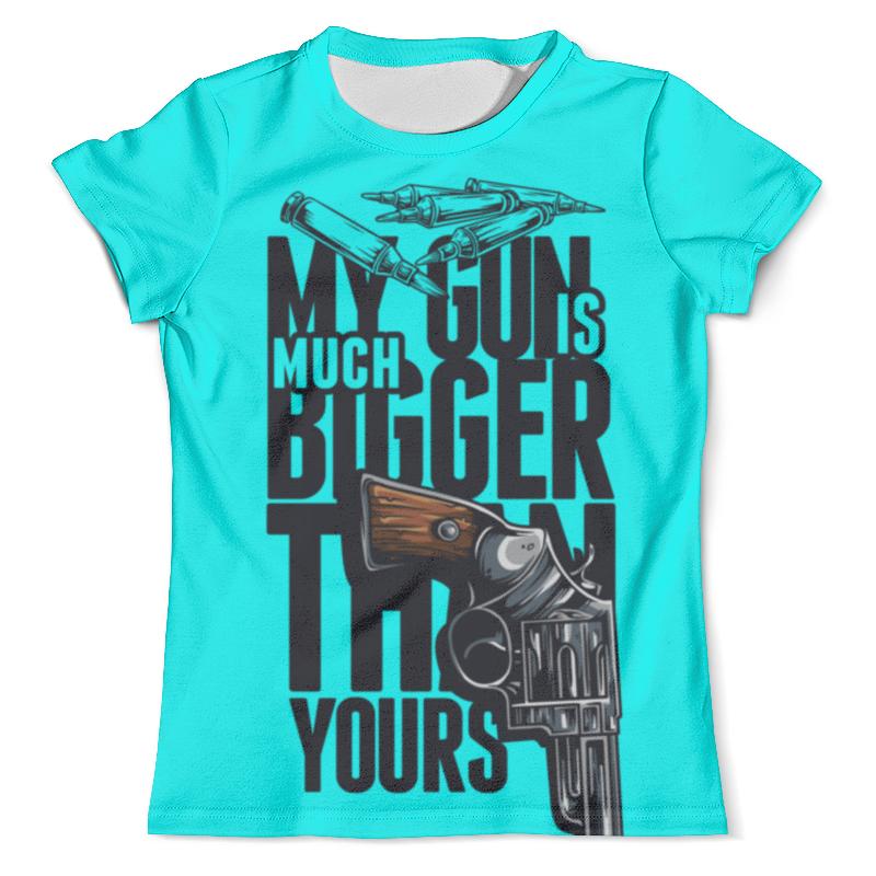 Футболка с полной запечаткой (мужская) Printio Моя пушка больше чем твоя футболка с полной запечаткой мужская printio любовь моя религия