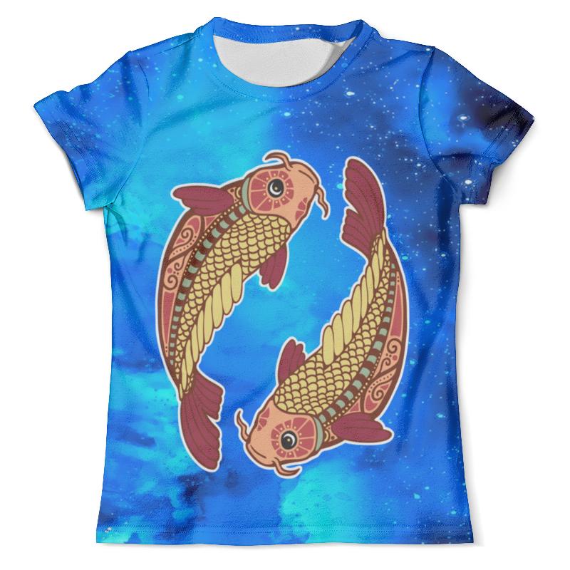 Футболка с полной запечаткой (мужская) Printio Зодиак-рыбы цены онлайн