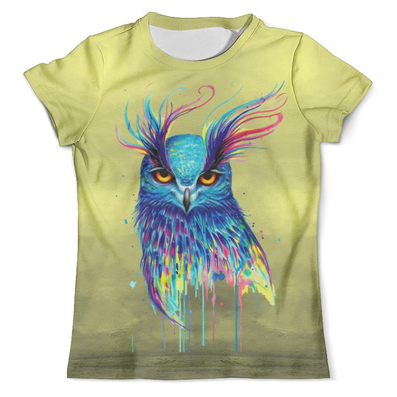Футболка с полной запечаткой (мужская) Printio Ночная птичка футболка с полной запечаткой для мальчиков printio птичка