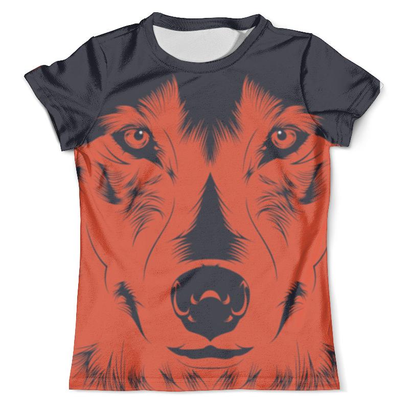 Футболка с полной запечаткой (мужская) Printio Волк красный футболка с полной запечаткой мужская printio красная шапочка и серый волк