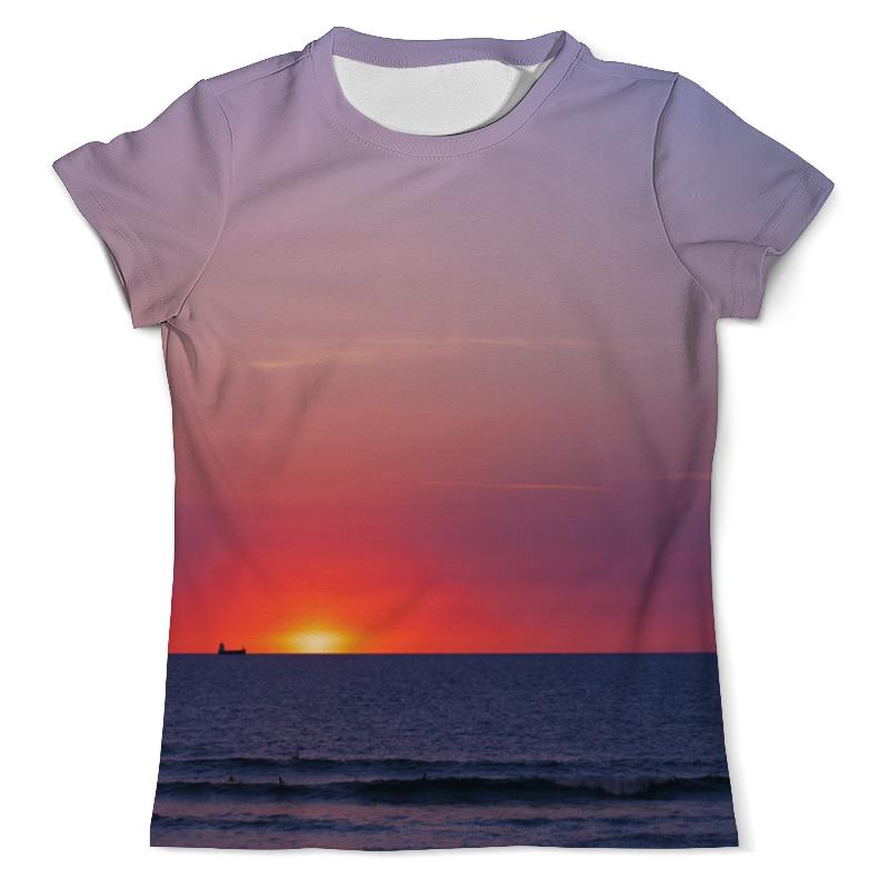 Фото - Футболка с полной запечаткой (мужская) Printio Закат у моря футболка с полной запечаткой мужская printio розовый закат