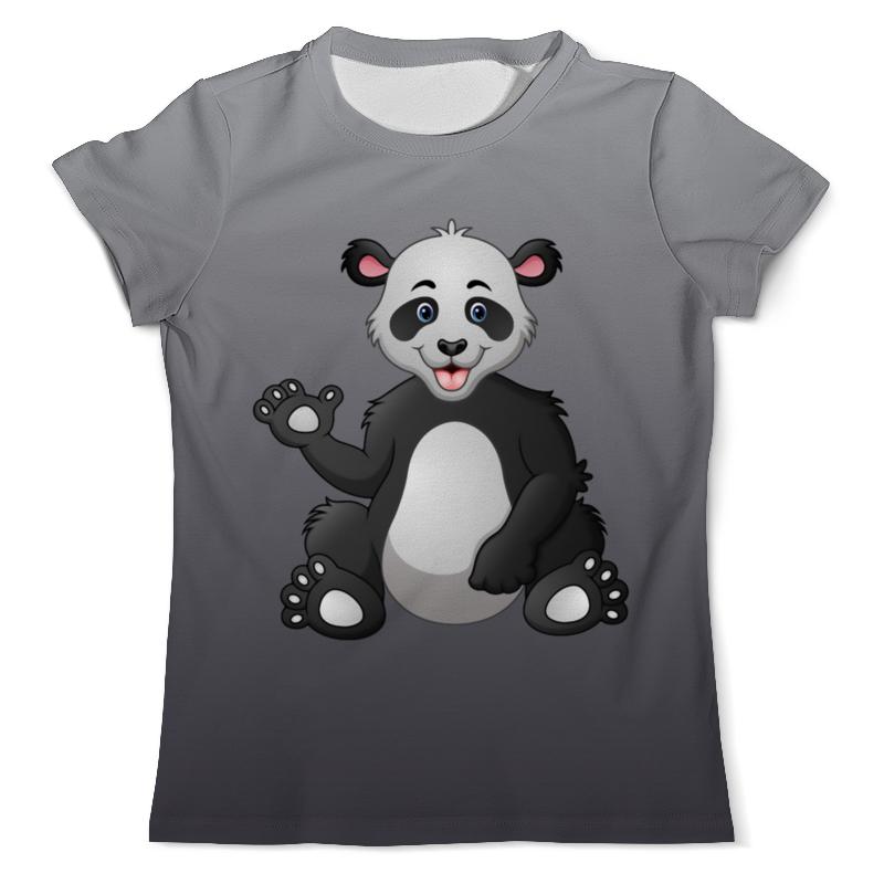Футболка с полной запечаткой (мужская) Printio Привет,я панда