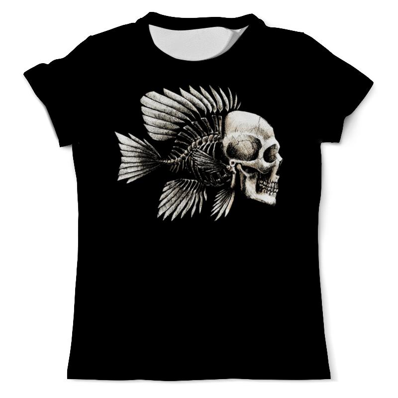 Футболка с полной запечаткой (мужская) Printio Рыба череп (2) футболка с полной запечаткой мужская printio рыба скелет 2