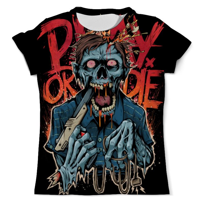 Printio Зомби геймер футболка с полной запечаткой для девочек printio зомби геймер