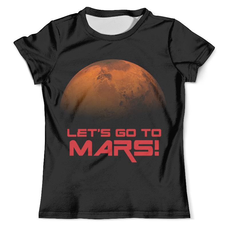 Футболка с полной запечаткой (мужская) Printio Let's go to mars!