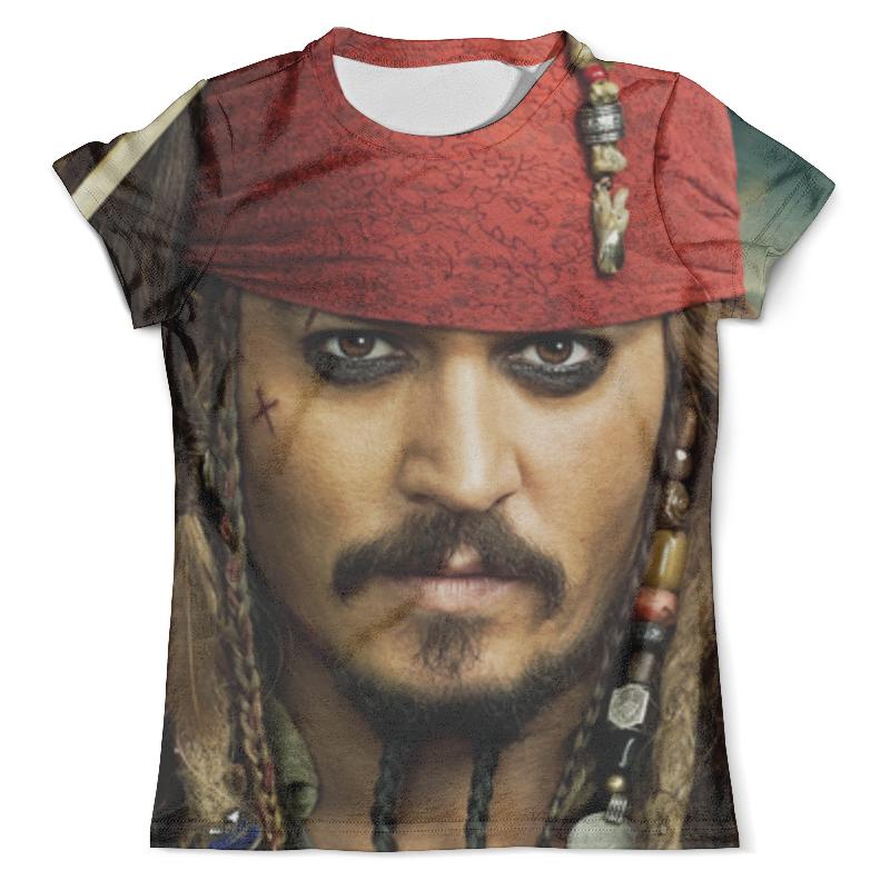 Футболка с полной запечаткой (мужская) Printio Джек воробей (пираты карибского моря) футболка классическая printio джек воробей пираты карибского моря