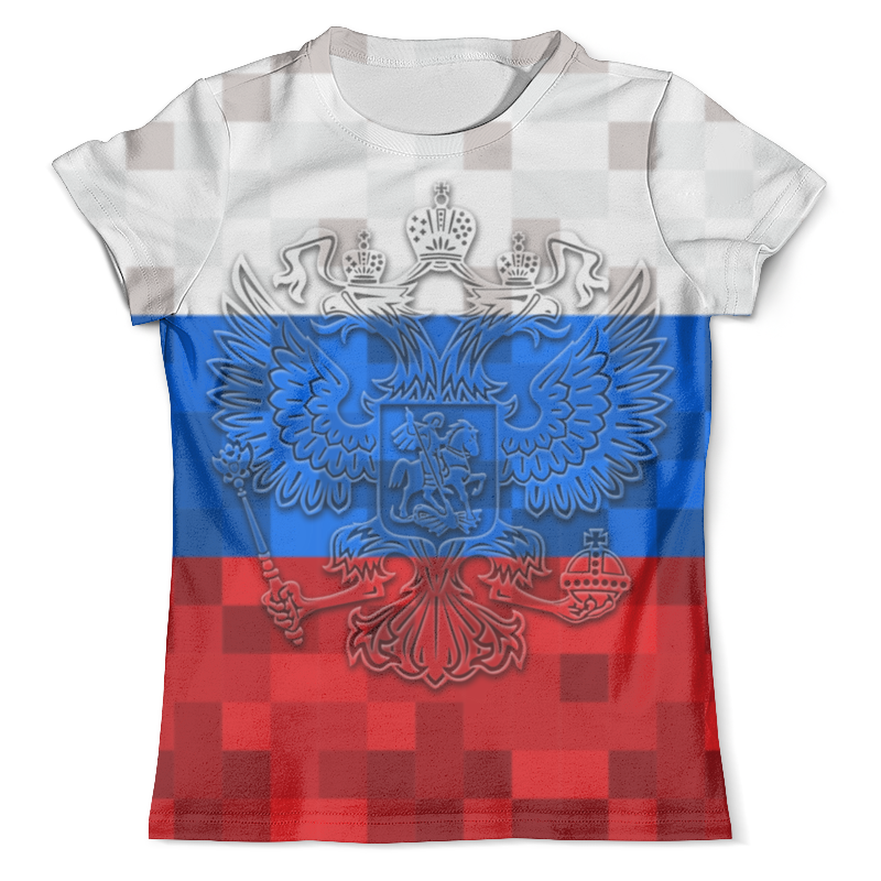 Футболка с полной запечаткой (мужская) Printio Россия (футбол) футболка с полной запечаткой мужская printio россия царская