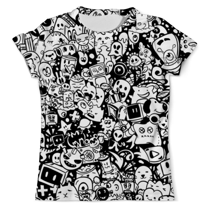 Футболка с полной запечаткой (мужская) Printio Дудлы футболка белая с принтом ido ут 00004169