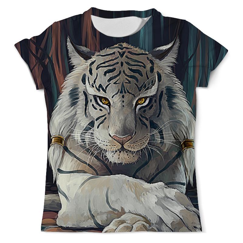Футболка с полной запечаткой (мужская) Printio Тигры фэнтези. белый тигр футболка с полной запечаткой мужская printio тигр и вода
