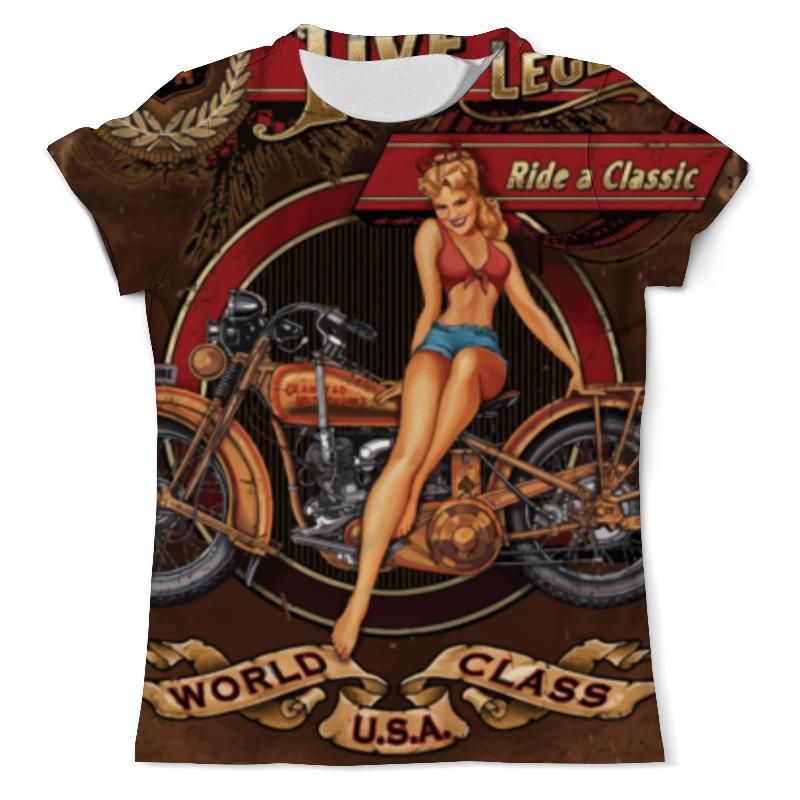 лучшая цена Printio Мотоциклы, винтажный плакат.