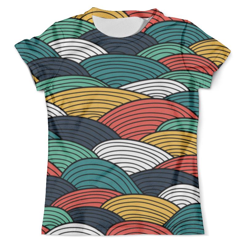 Футболка с полной запечаткой (мужская) Printio Цветные волны футболка с полной запечаткой мужская printio шары цветные