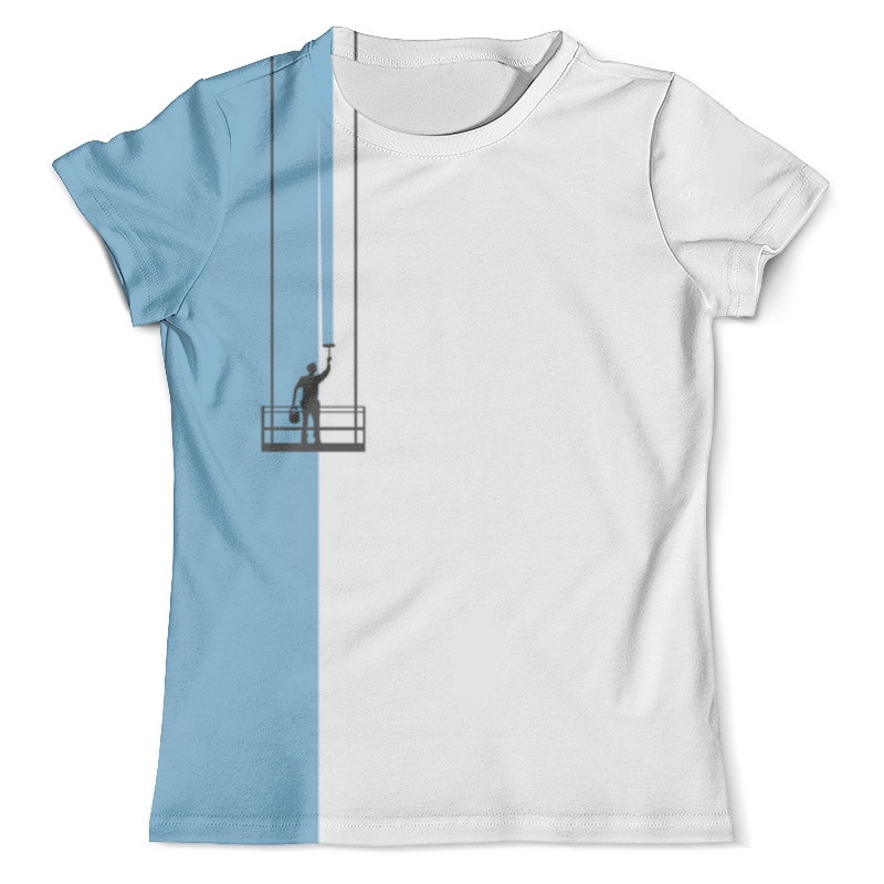 Футболка с полной запечаткой (мужская) Printio Маляр футболка для беременных printio маляр или первый мазок