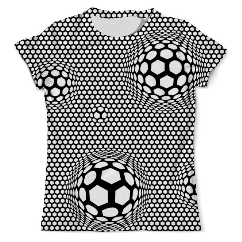 Футболка с полной запечаткой (мужская) Printio Футбольные мячи (1)